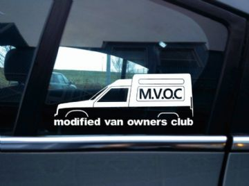 MVOC modified van owners club sticker - for Renault Extra / Express van retro
